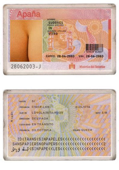 """""""Aberración del D.N.I"""". 2004. Grupo de Trabajo Queer"""